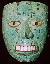 Mask representing a god, Aztec/Mixtec, Mexico, early 16th century.