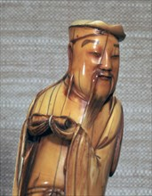 Ivory Chinese figurine of Chang Kuo Lao, 17th century.
