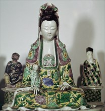 Statuette Chinese of Kuan-Yin, 17th century. Artist: Unknown