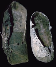 Leather shoes from salt mines, 6th century BC. Artist: Unknown