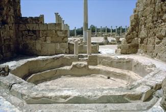 Roman Baths with Gymnasium beyond,  c.4th century BC. Artist: Unknown