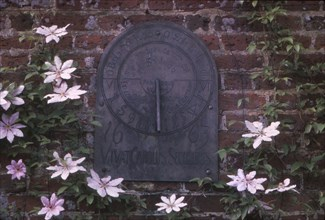 Sundial Dated 1663 in Grounds of Polesdon Lacey, Surrey, 20th century. Artist: CM Dixon.