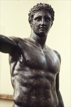 Youth from Antikyther, Bronze found in pieces in sea of Antikythera, c340 BC.  Artist: Unknown.