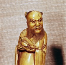 The Taoist Immortal, Chung Li Ch'Uan, Chinese Ivory, Ming Dynasty, 17th century. Artist: Unknown.