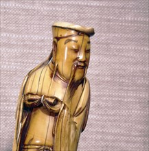 The Taoist Immortal, Zhang Guolao, Chinese Ivory, Ming Dynasty, 17th century. Artist: Unknown.