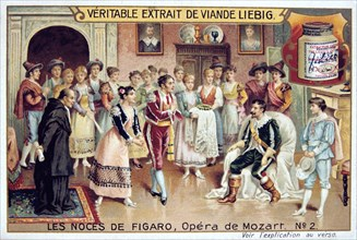 Scene from Mozart's opera The Marriage of Figaro, 1786 (1905).  Artist: Anon