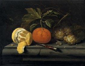 'Fruits on a Table Setting of Stone', c1653-1659. Artist: Johannes Borman