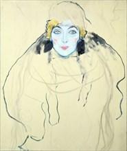 'Woman's Head' ('Frauenkopf'), 1917. Artist: Gustav Klimt