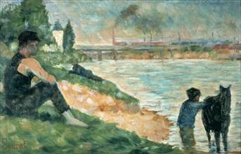 Study for 'Une Baignade', 1883. Artist: Georges-Pierre Seurat