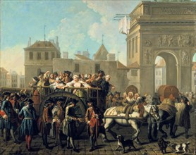 'Transport of Prostitutes to the Salpetriere', c1760-1770. Artist: Etienne Jeaurat