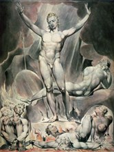 'Satan Arousing the Rebel Angels', 1808. Artist: William Blake