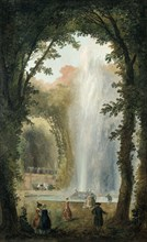 'The Water Feature of the Grove of the Museum of Marly', late 18th/early 19th century. Artist: Hubert Robert