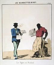 'Le Figaro et le Radical', 1871. Artist: Moloch