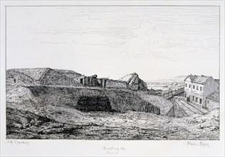 Bastion 66, Siege of Paris, 1870-1871. Artist: Paul Roux