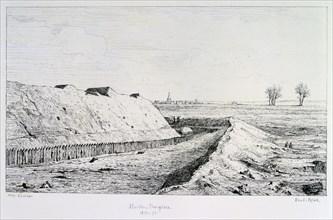 Haute Brugeres, Siege of Paris, 1870-1871. Artist: Paul Roux