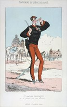 'Eclaireurs Franchetti', Siege of Paris, 1870-1871.  Artist: Anon