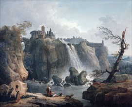 'The Waterfall at Tivoli', 18th/early 19th century. Artist: Hubert Robert