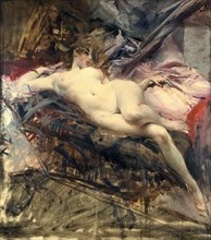 'Reclining Nude', late 19th/early 20th century. Artist: Giovanni Boldini