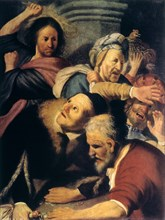 'Christ Drives the Money-Changers from the Temple', 1626. Artist: Rembrandt Harmensz van Rijn