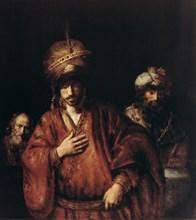 'Haman Recognizes His Fate', c1665. Artist: Rembrandt Harmensz van Rijn