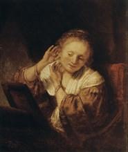 'Young Woman with Earrings', 1657. Artist: Rembrandt Harmensz van Rijn
