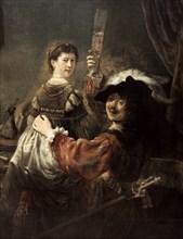 'The Prodigal Son in the Tavern' (Rembrandt and Saskia), c1635.  Artist: Rembrandt Harmensz van Rijn