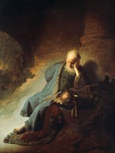 'The Prophet Jeremiah Mourning over the Destruction of Jerusalem', 1630. Artist: Rembrandt Harmensz van Rijn