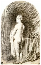 'Female Nude', 17th century. Artist: Rembrandt Harmensz van Rijn