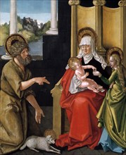 'Saint Anne with the Christ Child, the Virgin, and Saint John the Baptist', c1511. Artist: Hans Baldung