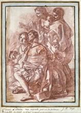 'Christopher Columbus landing in America', c1760(?)-1770. Artist: Jean Robert Ango