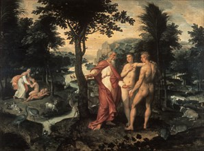 'The Garden of Eden', c1580. Artist: Jacob de Backer