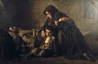 Painting, title unknown, mid 19th century. Artist: Jean Pierre Alexandre Antigna
