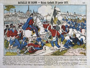 Battle of Dijon, Franco-Prussian War, 23rd January 1871. Artist: Anon