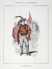 'Le Garibaldien', Paris Commune, 1871.  Artist: Anon