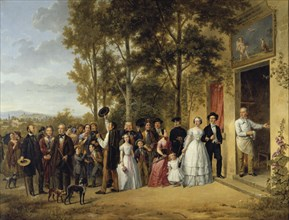 'A Wedding in the 'Coeur Volant' Chapel in Marly about 1850' (19th century). Artist: Anon