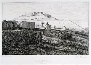 Fort du Mont Valerien, Siege of Paris, 1870-1871. Artist: Paul Roux