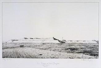 La Redoute des Haute Brugeres, Siege of Paris, 1870-1871. Artist: Paul Roux