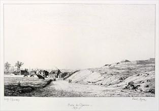 Poste de Charonne, Siege of Paris, 1870-1871. Artist: Paul Roux