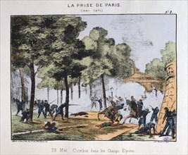 'La Prise de Paris', 22 May 1871. Artist: Anon