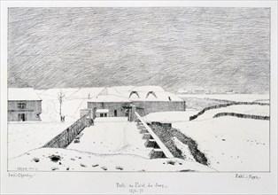 Porte du Point du Jour, Siege of Paris, 1870-1871.  Artist: Paul Roux