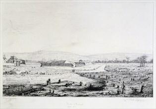 Porte d'Auteuil, Siege of Paris, 1870-1871. Artist: Paul Roux