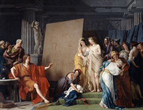 'Zeuxis Choosing a Model from the Beautiful Girls of Croton', 1789. Artist: Francois-Andre Vincent