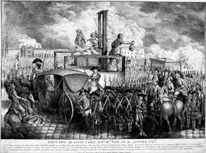 Execution of Louis XVI, 1793. Artist: Unknown