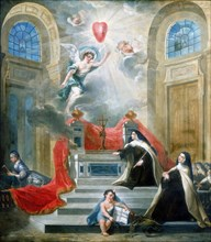 Chapel of the Carmelites, Paris, 1783. Artist: Unknown