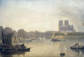 'Notre Dame', Paris, 19th century. Artist: Frederick Nash