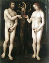 'Adam and Eve' ('The Temptation of Adam'), c1520. Artist: Master of Lucretia