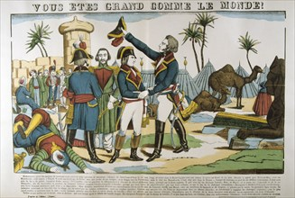 Napoleon and General Kleber on the expedition to Egypt, 1798, (c1835). Artist: Francois Georgin