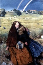 The Blind Girl', 1856. Artist: John Everett Millais