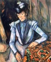 'Woman seated in blue', 1902-1906. Artist: Paul Cezanne
