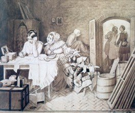 'Mousetrap', 1846. Artist: Pavel Andreevich Fedotov